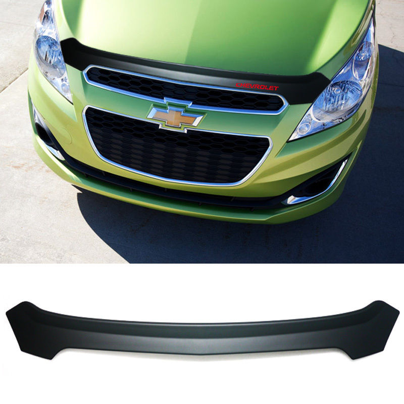 matt black sports hood guard bug shield protector  chevrolet   spark