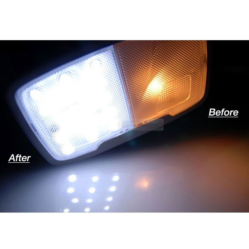 Interior Map Dome Light Led Bulbs Panel White For Hyundai