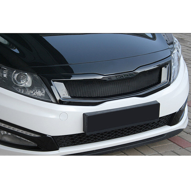 Roadruns Front Hood Radiator Grill Glossy Black For Kia 2011 2015