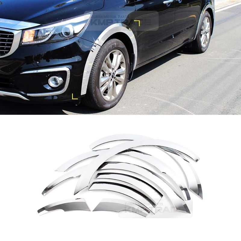 Kia Sedona 2015 Price: Chrome Wheel Arch Fender Molding Cover K-942 For KIA 2014