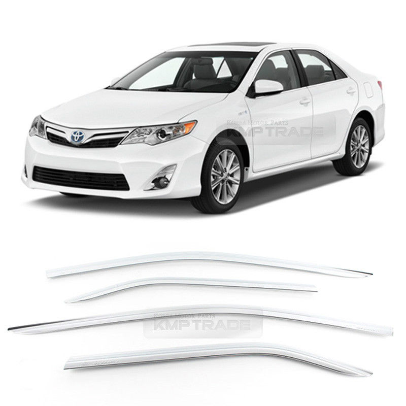 Chrome Window Sun Vent Visor Rain Guards 4P D-951 For TOYOTA Camry 2012-2014