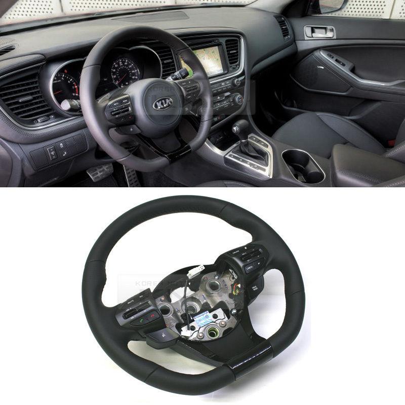 Oem Part Sports Steering Wheel Cut D Shaped For Kia 2011 2015 Optima