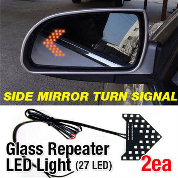 Side Mirror Turn Signal Glass Repeater Led Fit Ford Focus Mustang