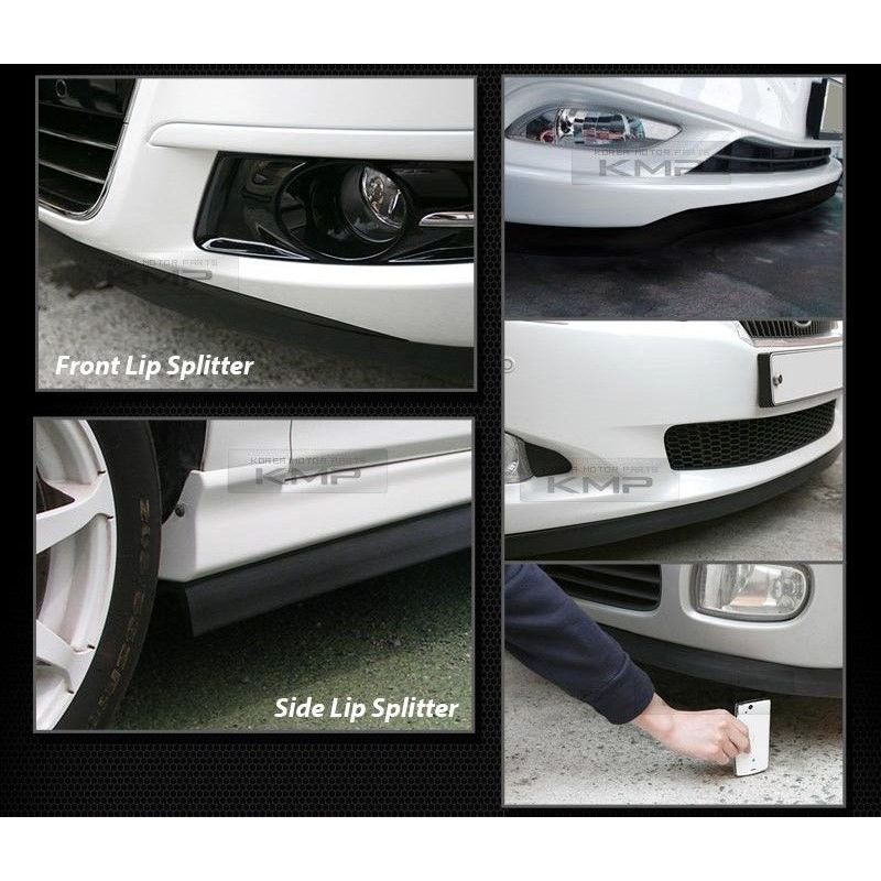 7.5 Feet Bumper Spoiler Chin Lip Splitter Valence Trim Body Kit for CADILLAC