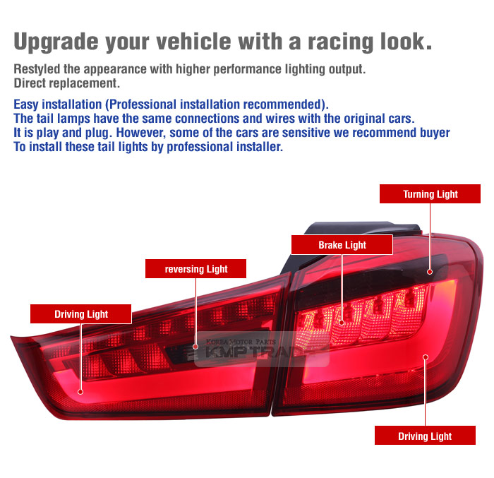 Details about LED Surface Emitting Tail Light Rear Lamp Assy for MITSUBISHI  2012 - 2015 ASX