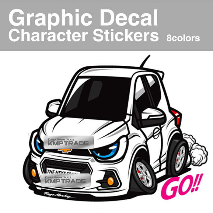 2018 Chevrolet Spark Camshaft: 8 X 16inch Graphic Decal Character Stickers 1Sheet For