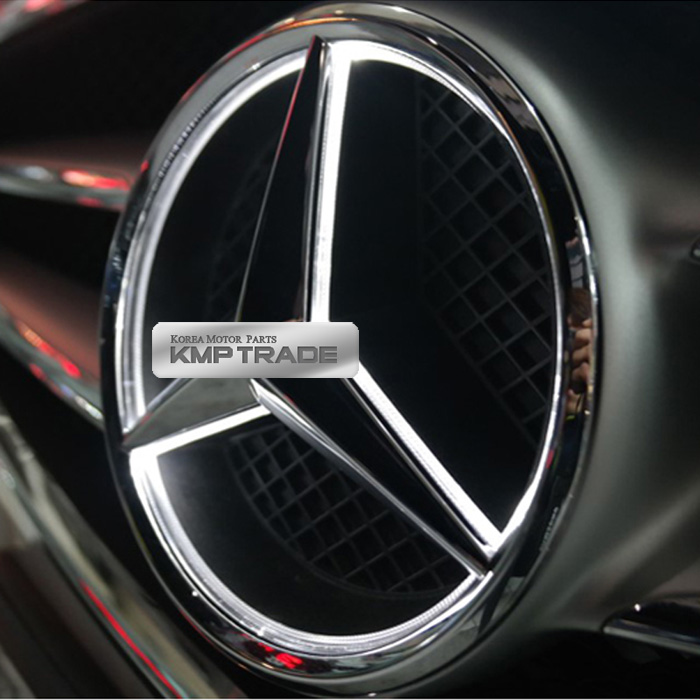 Illuminated led light front grille star emblem badge for for Illuminated star mercedes benz installation