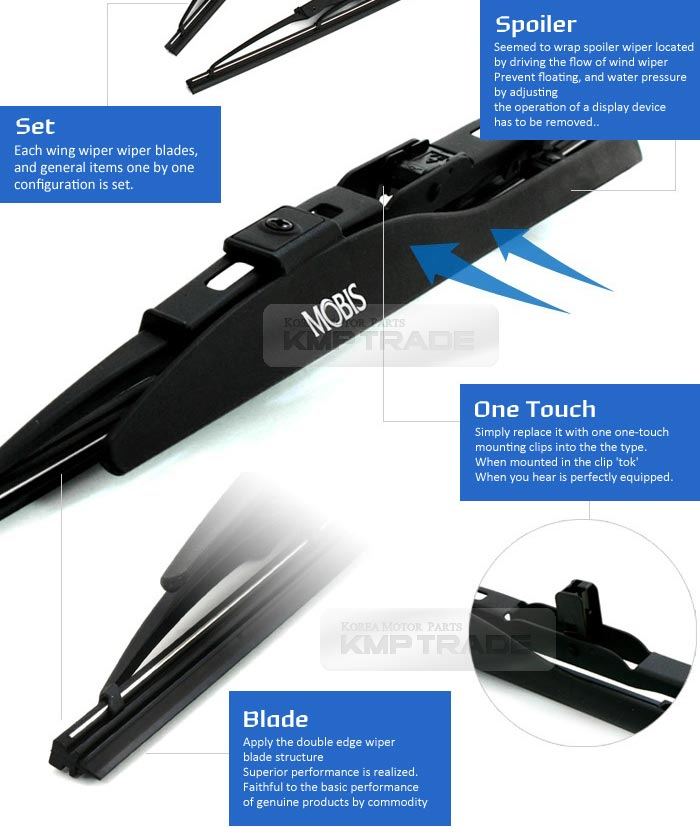 Oem wing windshield wiper blades 2ea 2418 for hyundai 2011 dynamic design of the spoiler is the wiper freerunsca Gallery