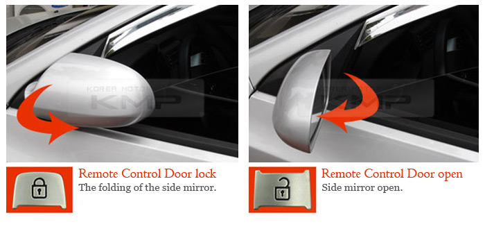 Side Mirror Auto Lock Folding System Module Connector For