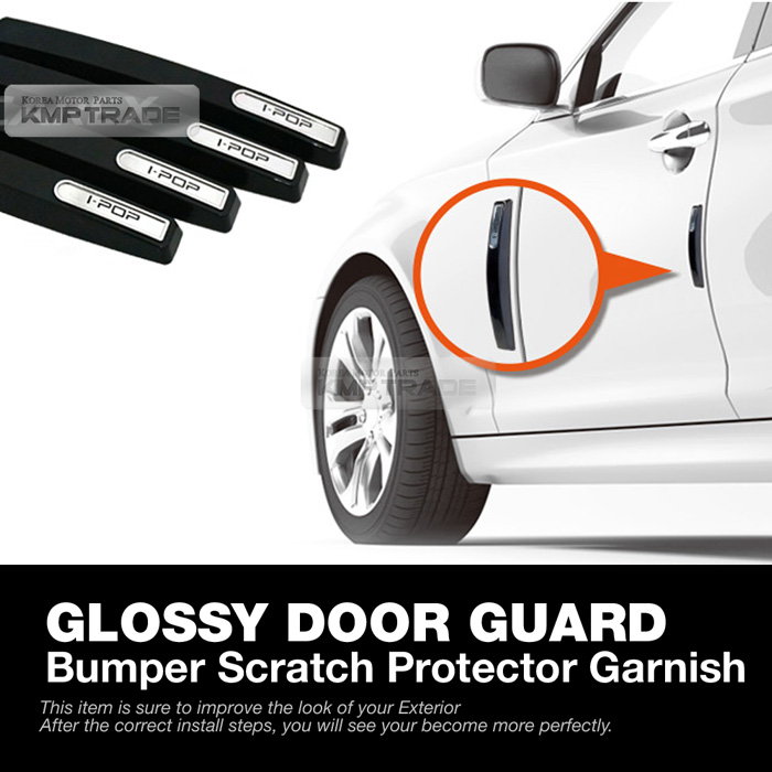 We wish you have a joyful experience on this option of your own vehicle!!  sc 1 st  eBay & Universal Metal Glossy Door Guard Bumper Scratch Protector Trim for ...