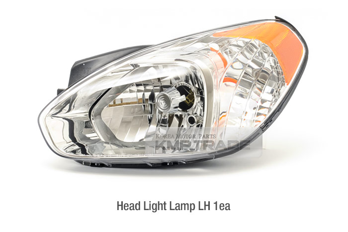 Details about OEM Silver Bezel Head Light Lamp Left Assy for HYUNDAI  2006-2010 Verna Accent