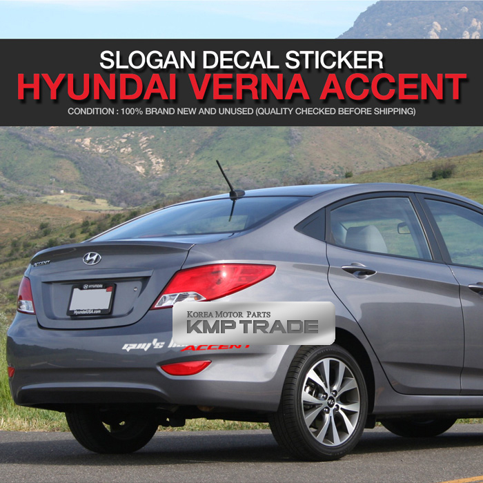 Accent Logo Slogan Material Decal Sticker Cover For HYUNDAI 2011-17