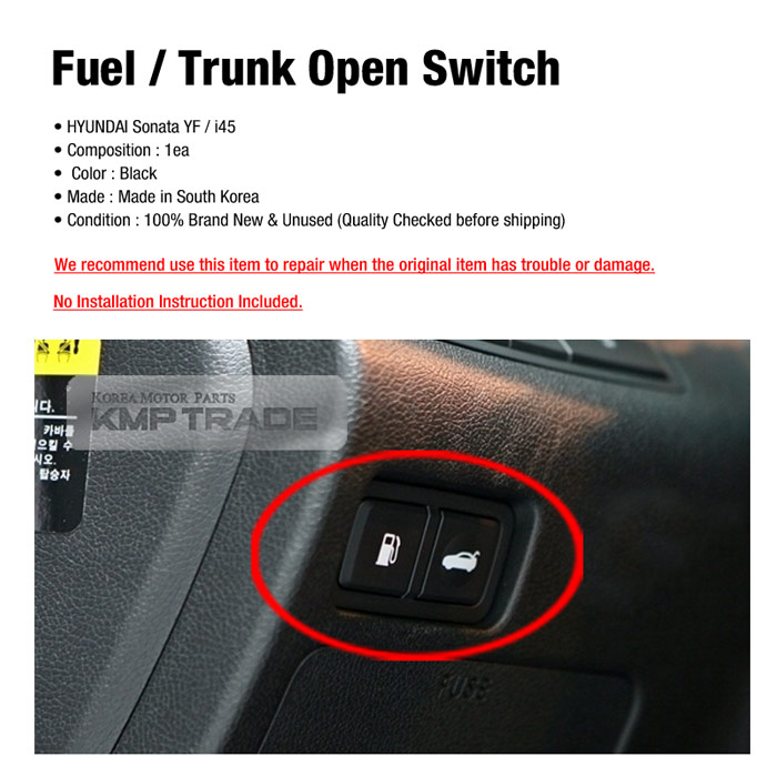 Oem Parts Trunk Open Switch Fuel Open Button For Hyundai