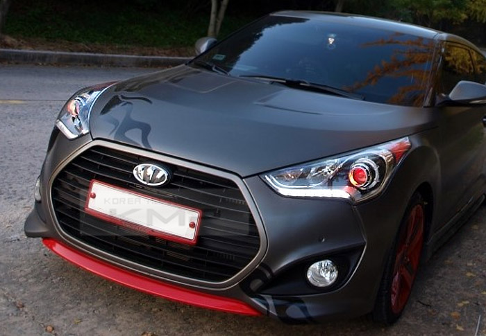 Details About Oem Parts Front Bumper Red Point Lip Skid For Hyundai 2013 2017 Veloster Turbo