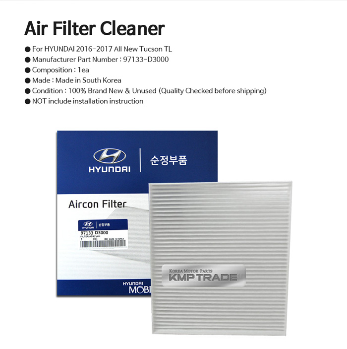 Oem Parts 97133d3000 Cabin Air Cleaner Filter For Hyundai