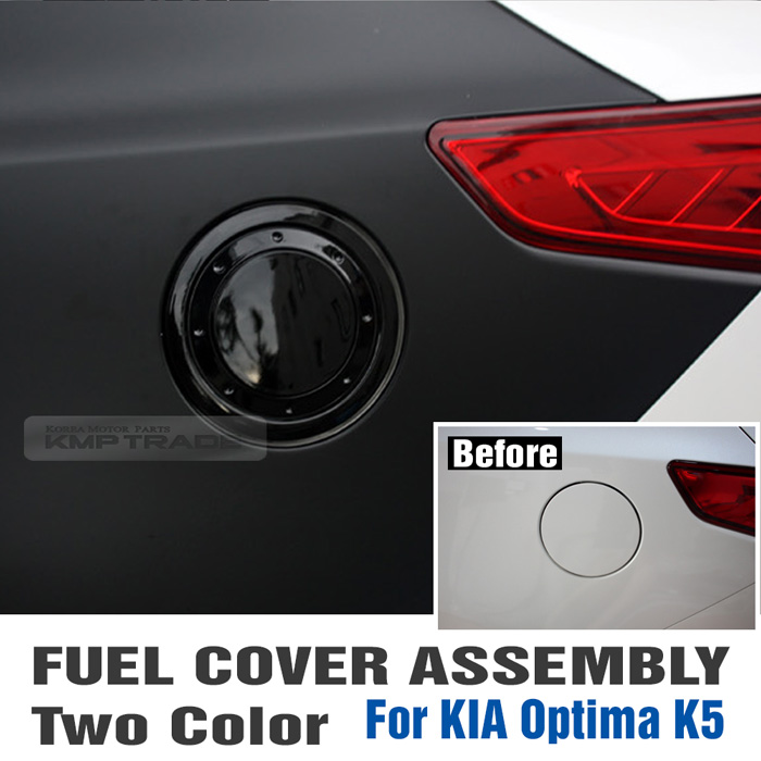 Fuel Oil Gas Tank Chrome Cover Garnish Trim Assembly For KIA 2011-15 Optima K5