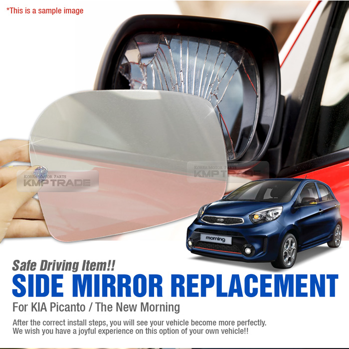 Morning Car Side Mirror Replacement RH 1P for KIA 2011-2017 Picanto