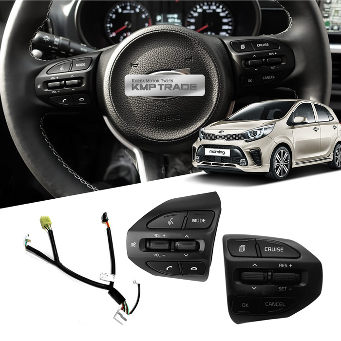 OEM Parts Steering Wheel Cruise Remote Control Switch For KIA 2017-2018 Picanto